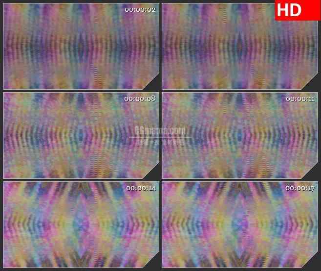 BG4222两边飞溅微笑粒子红色白色led大屏背景高清视频素材