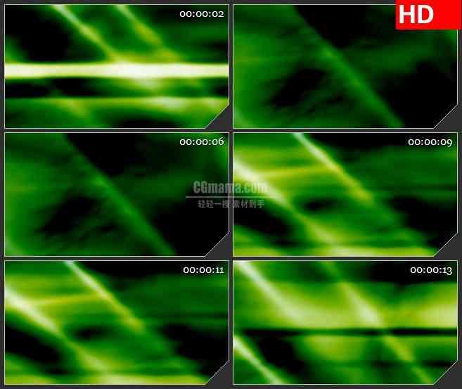 BG4230绿色梦幻光影黑色背景带透明通道led大屏背景高清视频素材