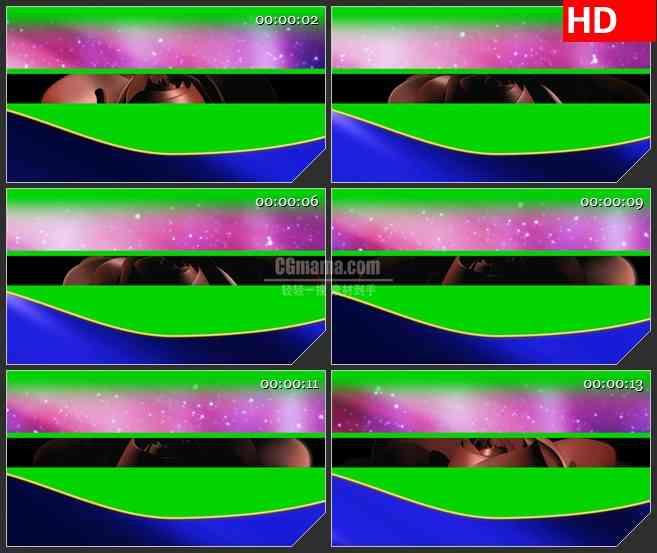 BG4240玫瑰花旋转绿色抠像led大屏背景高清视频素材