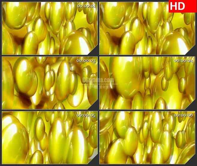 BG4265三维金色椭圆球粒子旋转led大屏背景高清视频素材