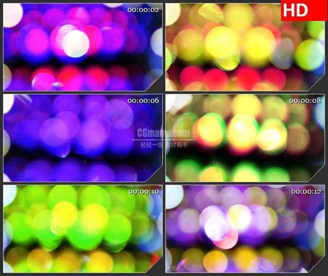 BG4279散景灯排黄绿色闪烁大光斑led大屏背景高清视频素材