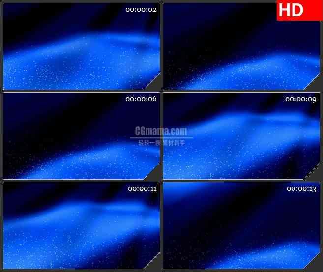 BG4299升腾的蓝色水气泡led大屏背景高清视频素材
