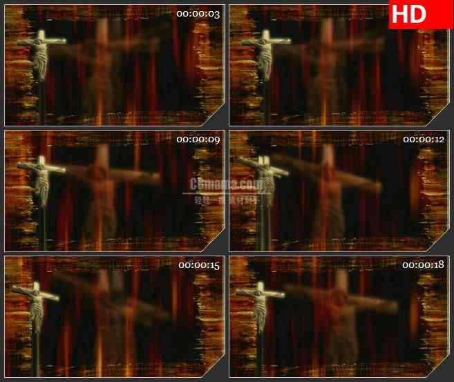 BG4301十字架耶稣三维旋转阴影led大屏背景高清视频素材