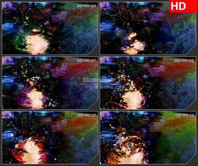 BG4305树的倒影led大屏背景高清视频素材