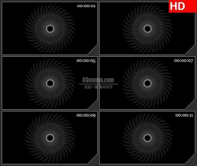 BG4310穗圈转盘旋转黑色背景带透明通道led大屏背景高清视频素材