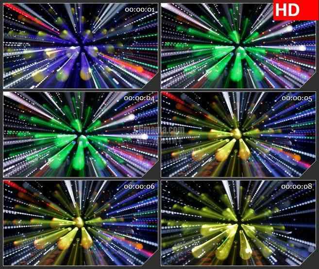 BG4318舞台酒吧KTV灯光球光芒四射旋转led大屏背景高清视频素材