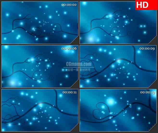 BG4325心形腾纹 星光led大屏背景高清视频素材