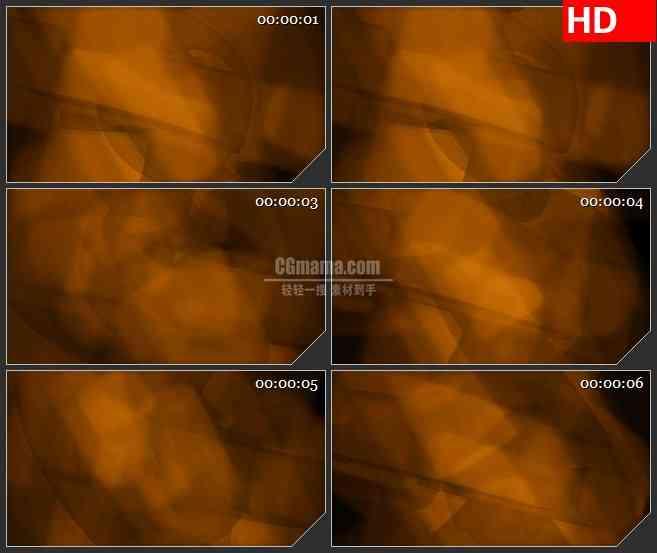 BG4347旋转的模糊黄棕色方块led大屏背景高清视频素材
