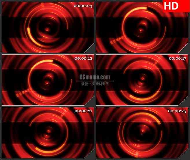 BG4350旋转的圆环led大屏背景高清视频素材