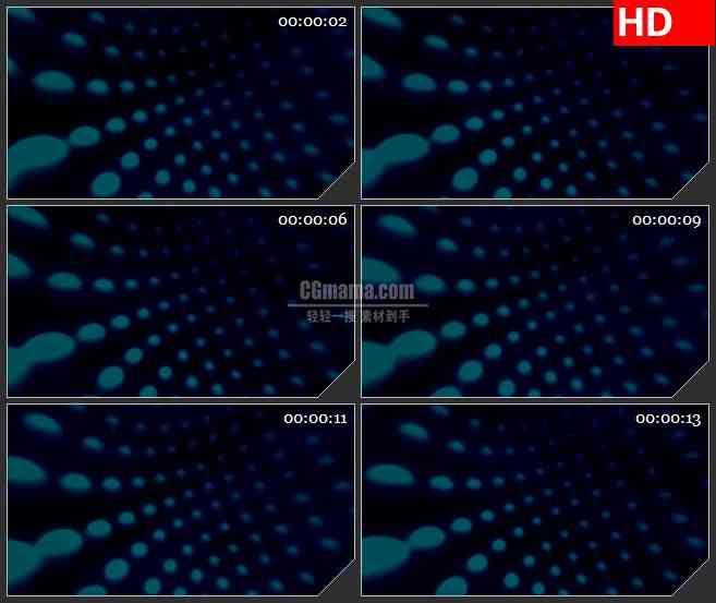 BG4357旋转格栅灯蓝色波点黑色背景带透明通道led大屏背景高清视频素材