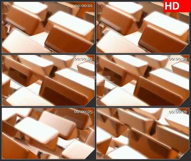 BG4372旋转金色半透明布朗三角棱镜led大屏背景高清视频素材