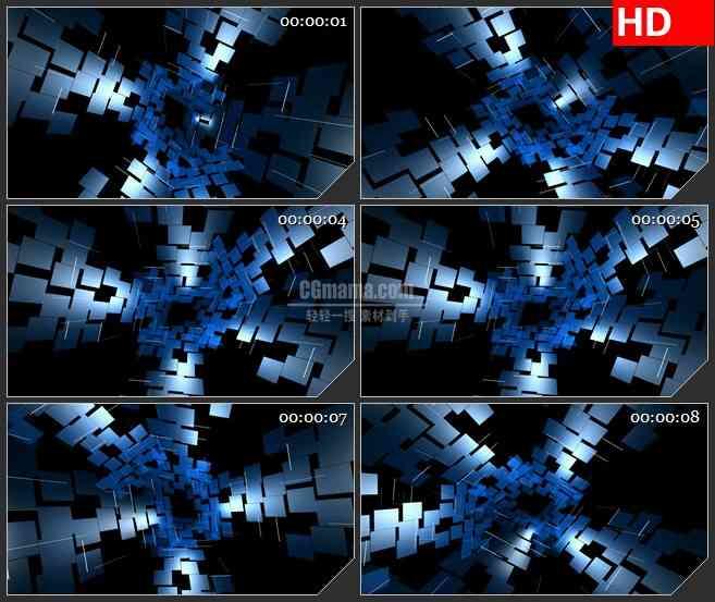 BG4379旋转蓝色地板漩涡科技未来led大屏背景高清视频素材