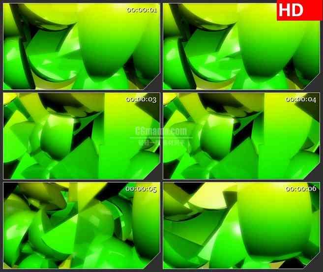 BG4388旋转绿色橘子瓣旋转led大屏背景高清视频素材