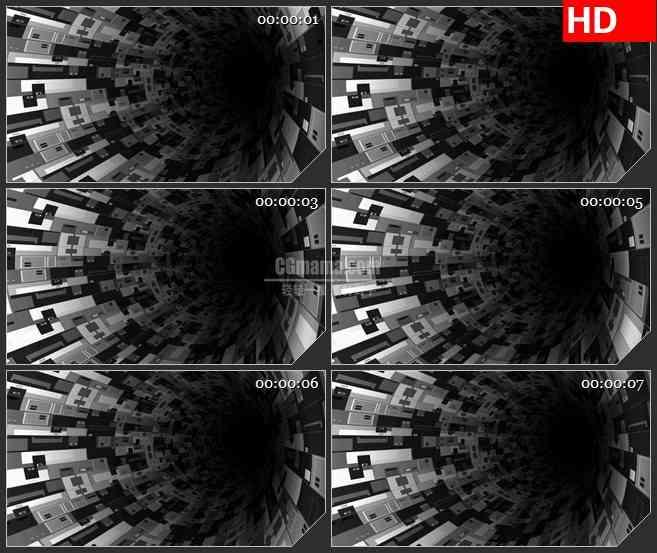 BG4400旋转小巷的墙壁三维动画led大屏背景高清视频素材