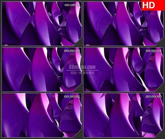 BG4404旋转紫色金字塔螺旋旋转led大屏背景高清视频素材