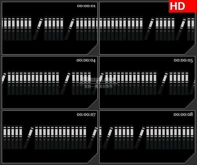 BG4419银白色抽象排列的文件夹黑色背景带透明通道led大屏背景高清视频素材