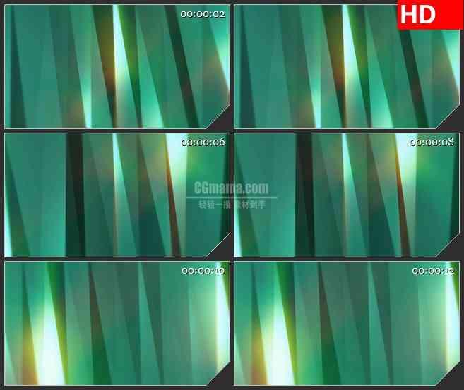 BG4432折射绿色光影渐变动态背景led大屏背景高清视频素材