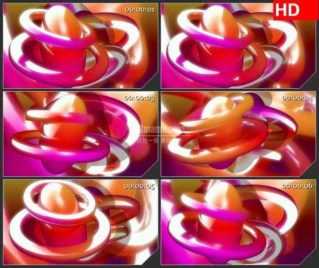 BG4442紫红色圆环绕椭圆三维动画led大屏背景高清视频素材
