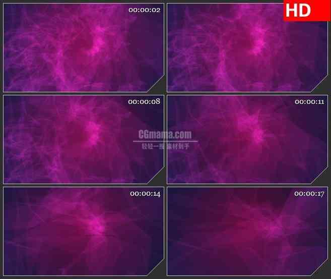 BG4463紫色螺旋状光影浪漫梦幻led大屏背景高清视频素材