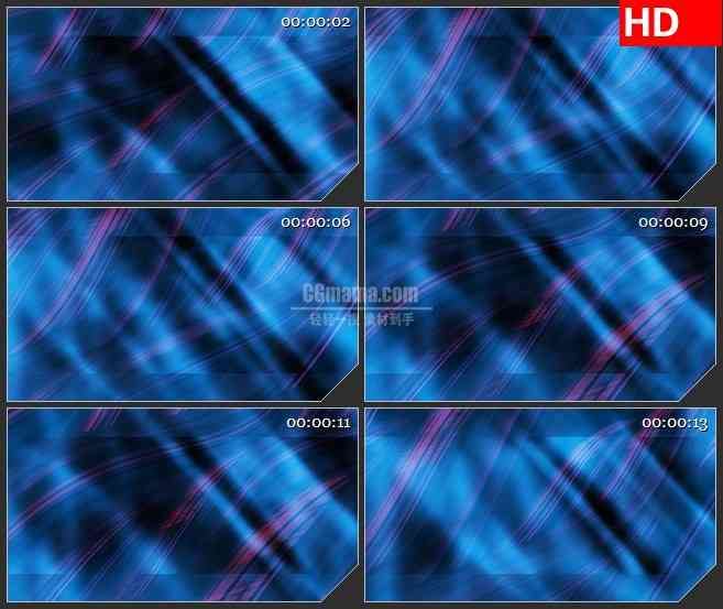 BG4467紫色蓝色发丝波浪条纹波动led大屏背景高清视频素材