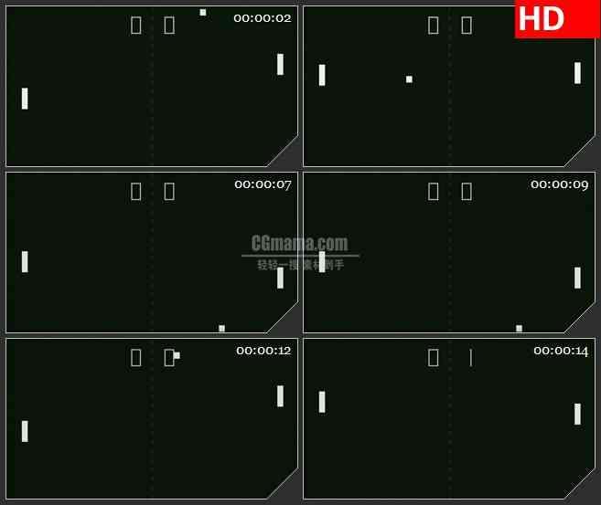 BG4477白色方块碰撞游戏黑色背景led大屏背景高清视频素材