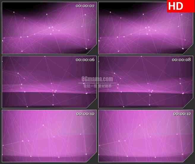 BG4482白色粒子连接线粉色背景led大屏背景高清视频素材