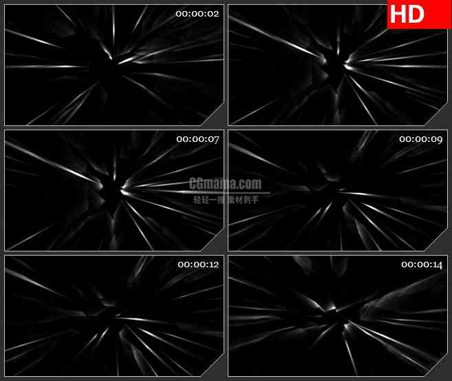 BG4483白色粒子拖尾光粒子黑色背景带透明通道led大屏背景高清视频素材