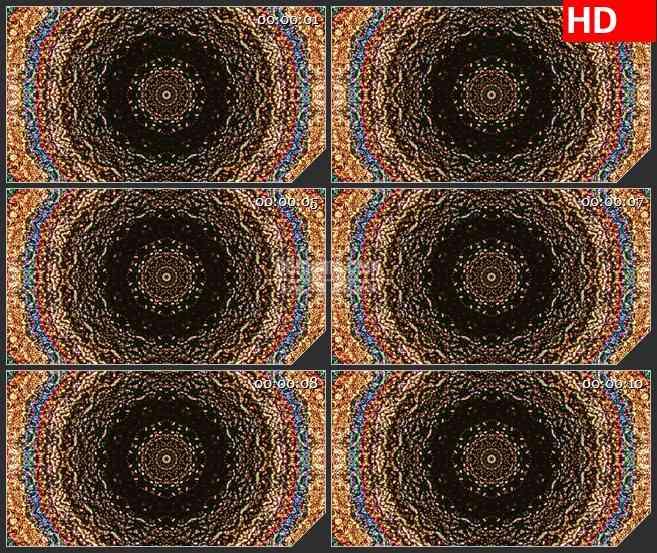 BG4496彩虹多彩万花筒变化旋转动态背景led大屏背景高清视频素材