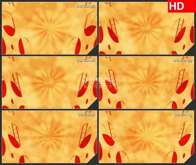 BG4510橙黄色电影胶片移动胶盘led大屏背景高清视频素材