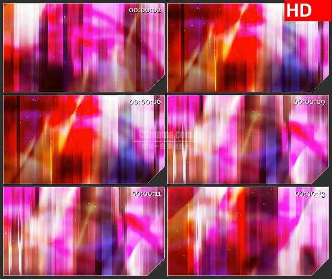 BG4516橙色紫色红色竖条光影白色粒子led大屏背景高清视频素材