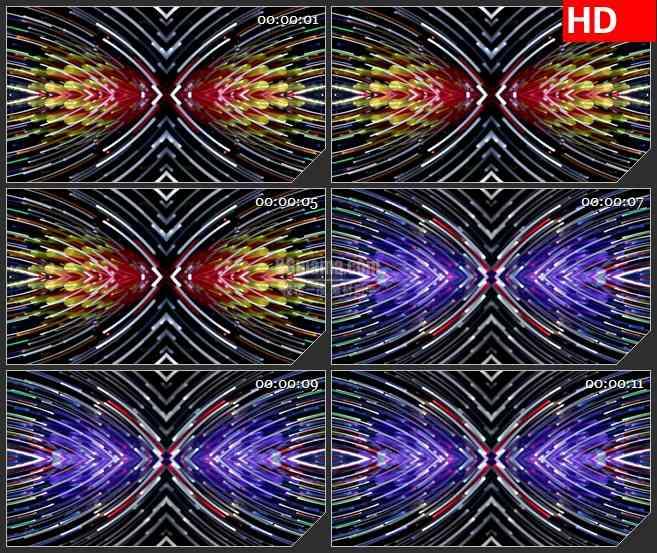 BG4531多彩线条粒子化光圈led大屏背景高清视频素材
