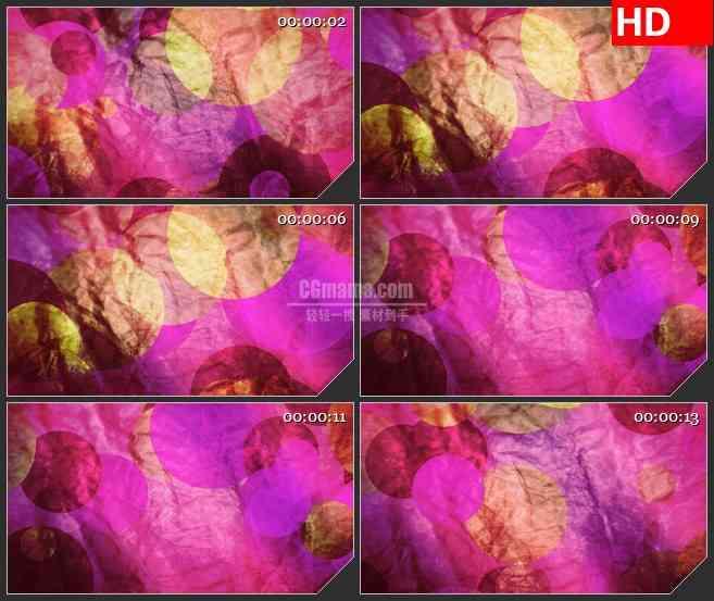 BG4535粉红黄色圆点褶皱纸纹理紫色背景led大屏背景高清视频素材