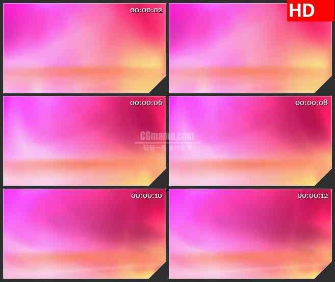 BG4541粉红色橙色渐变光影led大屏背景高清视频素材