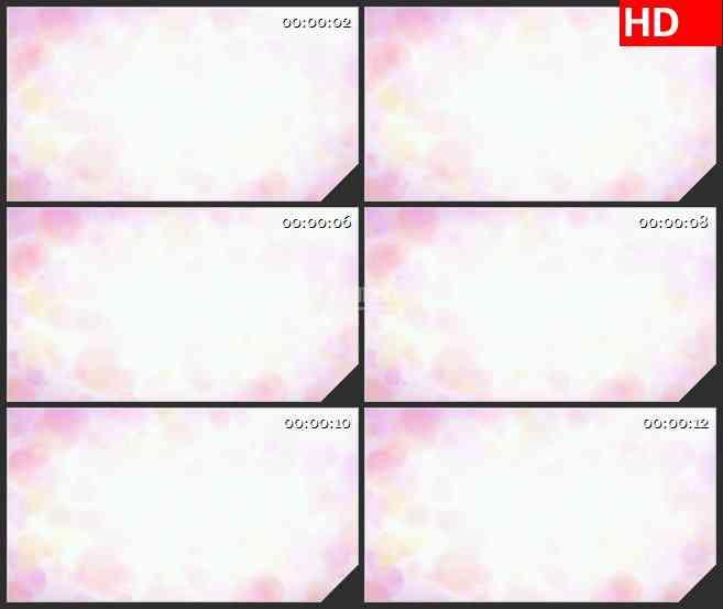 BG4560粉红色圆圈和白光led大屏背景高清视频素材
