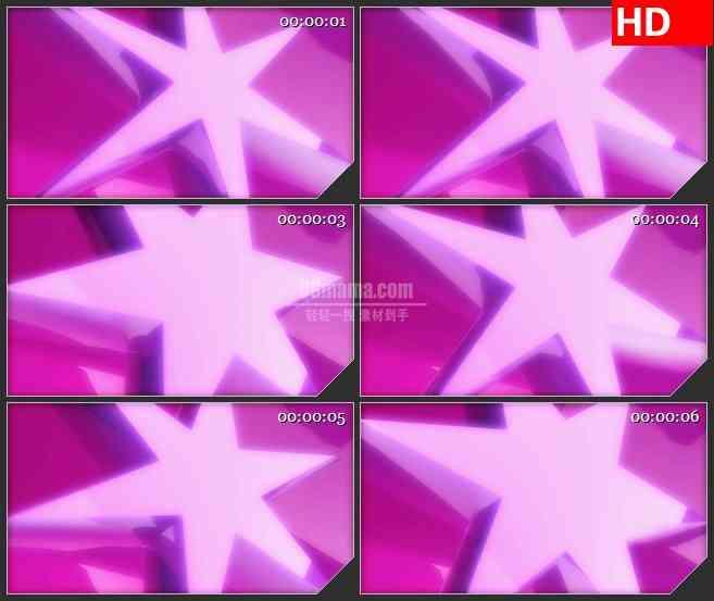 BG4562粉红色紫色星星缩放旋转led大屏背景高清视频素材