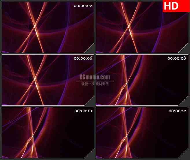 BG4581粉色紫色发光线光影黑色背景led大屏背景高清视频素材