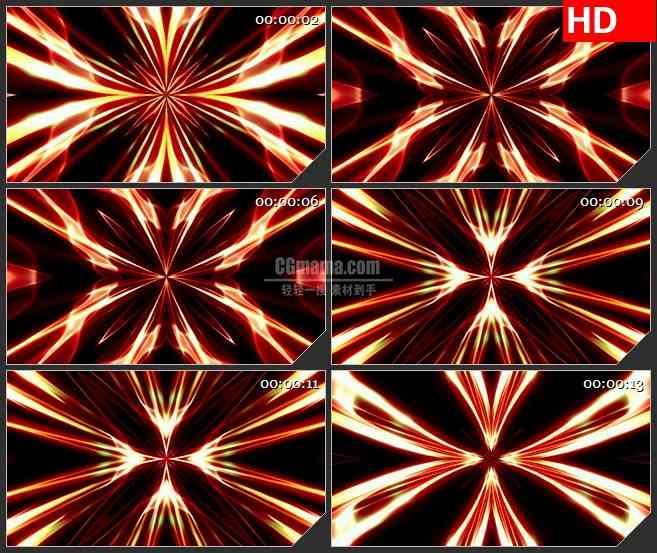 BG4599红花火焰万花筒led大屏背景高清视频素材