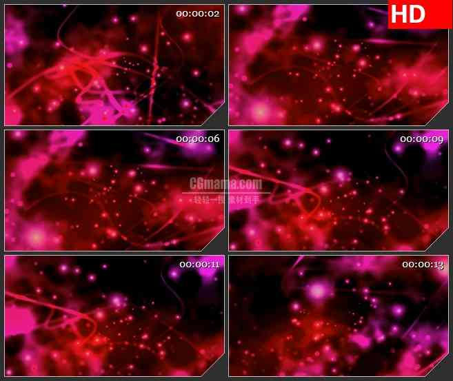 bg4605红色抽象耀斑光线穿梭粒子动态背景led大屏背景高清视频素材