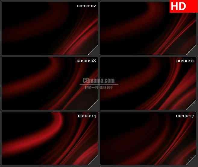 BG4609红色光影光线黑色背景带透明通道led大屏背景高清视频素材