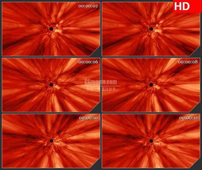 BG4622红色毛细血管通道穿梭led大屏背景高清视频素材