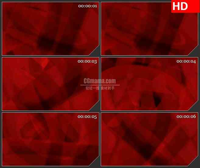 BG4630红色圆环圆圈阴影旋转led大屏背景高清视频素材