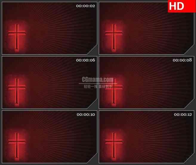 BG4633红十字星光放射光线旋转动态背景led大屏背景高清视频素材