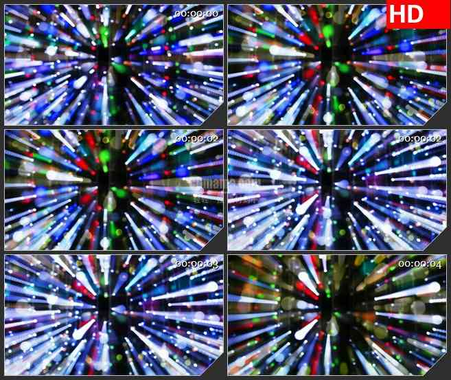 BG4646活跃迪斯科气氛多彩圆色激光闪光球旋转led大屏背景高清视频素材