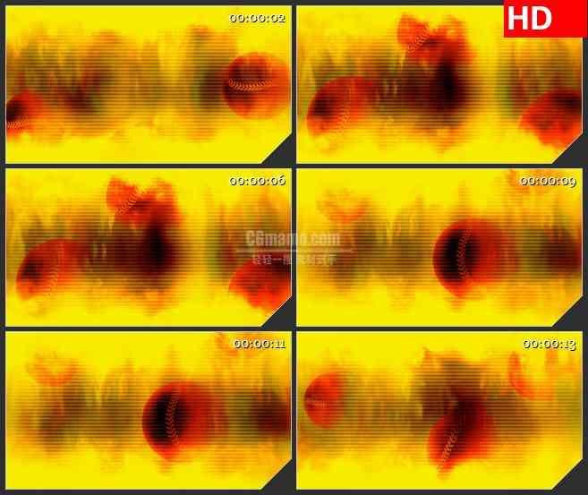 BG4647火焰热辣纹理网球旋转led大屏背景高清视频素材