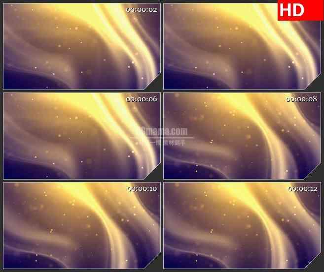 BG4651金黄色波浪光影紫色背景led大屏背景高清视频素材